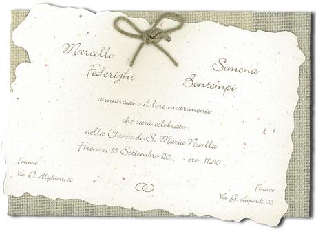 Partecipazioni Di Matrimonio Fai Da Te Pane Amore E Creatività ...